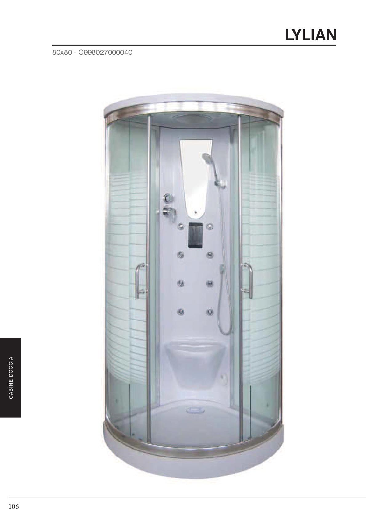 Box doccia e cabine multifunzione idroterapia - Cabine doccia multifunzione prezzi ...