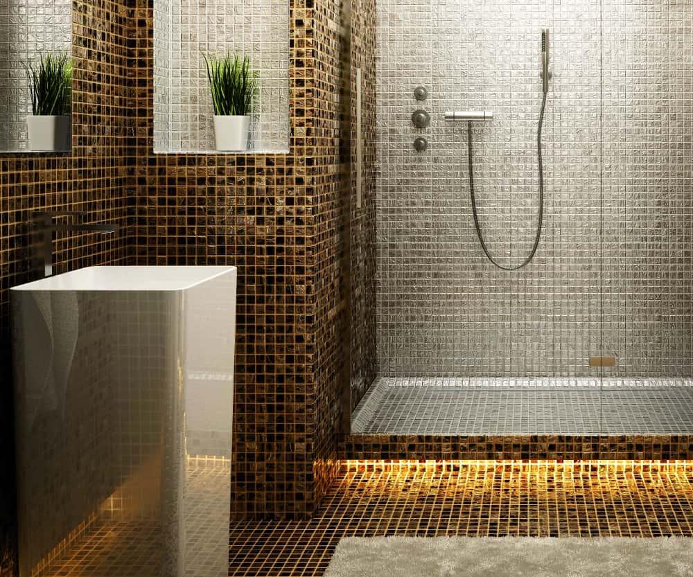 Stock rivestimento in mosaico vetro e ceramica made in - Mosaico in bagno ...